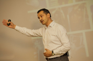 Ray Algar, MD of Oxygen Consulting during business presentation