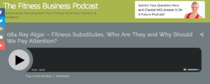 Ray Algar interview for The Fitness Business Podcast during January 2017