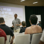 Ray Algar starts a presentation to European health and fitness club owners at an event hosted at Club La Santa in Lanzarote