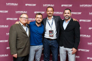The four speakers from MFORUM event in Moscow 2017 - Colin Milner, Trevor Brennan, Ray Algar and Cedric Betis