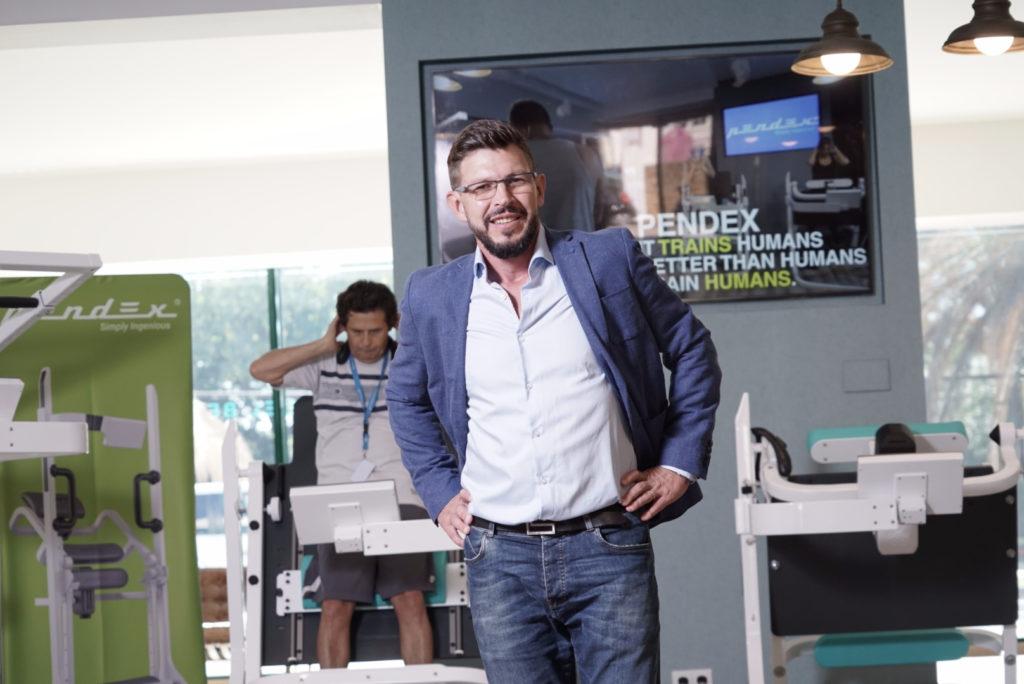Alex Popyrin Pendex CEO at the Pendex studio in Marbella, Spain